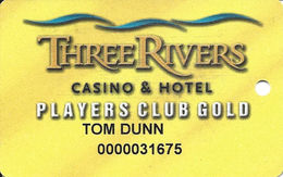 Three Rivers Casino - Florence OR - Players Club Gold Slot Card - Casino Cards