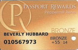 Peppermill Casino - Reno, NV - Bronze Slot Card - Casino Cards