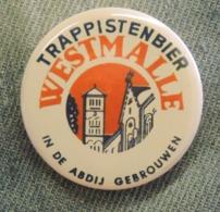 Pin Button Badge Ø38mm Trappistenbier WESTMALLE (bière) 3 - Beer