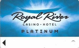 Royal River Casino - Flandreau, SD - BLANK Platinum Slot Card - Casino Cards