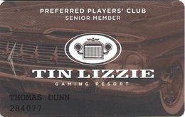 Tin Lizzie Casino - Deadwood SD - Preferred Players Club Senior Member Slot Card - Casino Cards