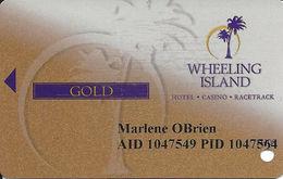 Wheeling Island Gaming - Wheeling, WV - Gold Slot Card 1H08 (1st Half 2008) - Casino Cards