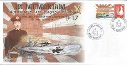 NOUVELLE CALEDONIE (New Caledonia)- Enveloppe événementielle Avec Timbre Personnalisé - 2015 - Sous-marin - Briefe U. Dokumente