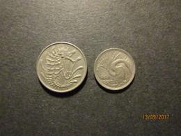 10 Cents En 5 Cents - Singapur