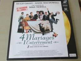 LASER DISC (format 33 Tours , Pas Un Dvd) 4 MARIAGES ET UN ENTERREMENT  Un Film De MIKE NEWELL - Sciences-Fictions Et Fantaisie