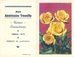 Calendrier Dépliant 1952 Publicté Aux Américains Trouville - Calendriers