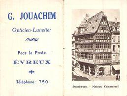 Calendrier Dépliant 1956 Publicité Jouachim Opticien Lunetier Evreux Eure 27 Normandie - Calendriers