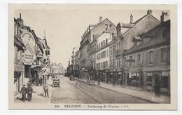 BELFORT - N° 164 - FAUBOURG DE FRANCE ANIME AVEC GARAGE CITROEN - CPA VOYAGEE - Belfort - City