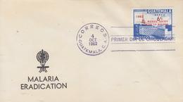 Enveloppe  FDC  1er  Jour   GUATEMALA    Eradication  Du  Paludisme  Malaria   1962 - Disease