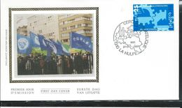 1991: Soie; N° 2405  100 Ans Du Syndicat Libéral  Obl. La Hulpe  27/04/91 - FDC