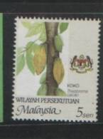 Malaysia 2002 Agro Federal Territory 5sen P14x13.75 Cream Gum WMK Sidways Up MNH - Malaysia (1964-...)