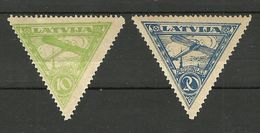 FAUX Fälschungen LETTLAND Latvia 1921 Michel 75 - 76 A Air Mail FAKE MNH - Lettonie