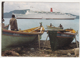 Old Circulated Postcard - Cruise Ships - TS Hanseatic - Ferries