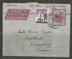 RSA Air Letter Nashorn Mit Aufdruck 2 C  Plus Zusatzfr. Newcastel 13.03.1962 - Düsseldorf Auto Union - África Del Sur (1961-...)