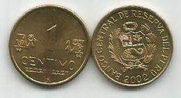 Peru 1 Centimo 2002. KM#303.4 High Grade - Pérou