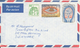 Belgium Air Mail Cover Sent To Denmark Aachen 13-2-1981 Also With A German Stamp On The Cover - Belgium