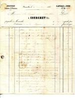 13.MARSEILLE.DROGUERIE.TEINTURE & PEINTURE.COURCHET FILS 28 RUE LATERALE DU COURS.1851. - Chemist's (drugstore) & Perfumery