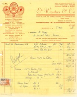 BRASSERIE -  Facture 1950 + 3 Documents Distributeur Wouters BXL Vers Brasserie De Keyzer à RENAIX   --  26/348 - Alimentaire