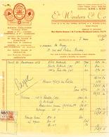 BRASSERIE -  Facture 1950 + 3 Documents Distributeur Wouters BXL Vers Brasserie De Keyzer à RENAIX   --  26/348 - Levensmiddelen