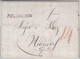 Österreich - Feldkirch (1825), L1 A. Portobrief N. Niederdorf I. Tirol - Österreich