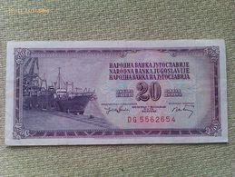 Billete Yugoslavia. 20 Dinares. 1974. Muy Buena Conservación - Yugoslavia