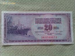 Billete Yugoslavia. 20 Dinares. 1978. Muy Buena Conservación - Yugoslavia