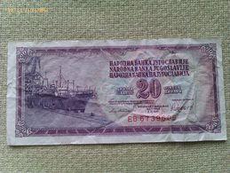 Billete Yugoslavia. 20 Dinares. 1981. - Yugoslavia