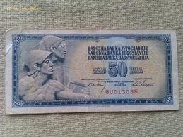 Billete Yugoslavia. 50 Dinares. 1968 - Yugoslavia
