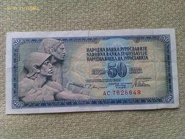 Billete Yugoslavia. 50 Dinares. 1978. Muy Buena Conservación - Yugoslavia