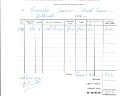 BRASSERIE -  Facture 1972 + Note 1957 Brouwerij Cnudde à EINE  --  26/351 - Levensmiddelen