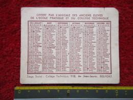 """Amicale Des Anciens élèves De L'école Pratique Et Du Collège Technique """"Belfort"""" 1951 - Calendriers"""