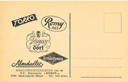 BRASSERIE -  Facture 1986 + Reçu + Pub Kaart Brouwerij Roman à OUDENAARDE - Mater  --  26/352 - Levensmiddelen