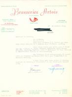 BRASSERIE -  Facture 1965 + 3 Documents Brasserie Artois à LOUVAIN Et SCHAERBEEK  --  26/353 - Levensmiddelen
