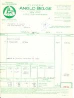 BRASSERIE -  2 Factures Illustrées Cheval 1954 Brasserie Anglo-Belge à ZULTE WAEREGHEM --  26/355 - Levensmiddelen