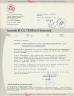 BRASSERIE - Lettre 1982 Brasserie Haelterman à LAEKEN Bruxelles  --  26/358 - Levensmiddelen