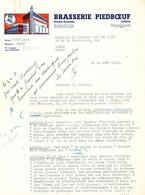 BRASSERIE - 2 Lettres Illustrées 1939 Et 1953 Brasserie Piedboeuf à JUPILLE  --  26/359 - Alimentaire