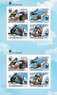 Imperf. GUINEA BISSAU 2011 - WWF Eagle, 2 Sets - Mi 5229-32, YT 5229-32 - Unused Stamps