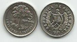 Guatemala 5 Centavos  1991. High Grade - Guatemala