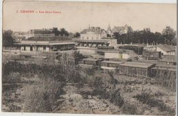 CPA 71 CHAGNY Les Deux Gares - Chagny