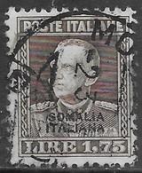Italia Italy 1928 Colonie Somalia Parmeggiani L1.75 Sa N.118 US - Somalia