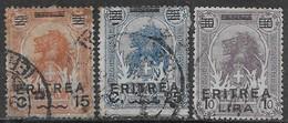 Italia Italy 1922 Colonie Eritrea Somalia Soprastampati 3val Sa N.57-58,60 US - Eritrea