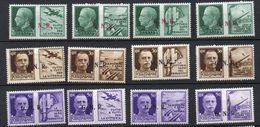 1944 Repubblica Sociale GNR Propaganda Di Guerra Completa N. 13 -24 Nuovi MLH* Sassone 200 Euro - 4. 1944-45 Repubblica Sociale
