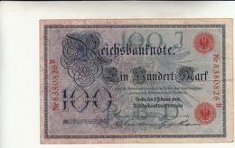100 Marchi 1908 Pieghe - [ 2] 1871-1918 : German Empire