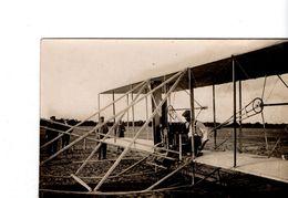 Carte Photo D'un Aéroplane (sans Doute De L'aviateur Américain  Wilbur Wright) - Aviateurs
