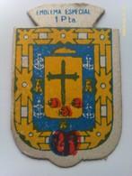 Emblema De Auxilio Social De 1 Peseta De Tenerife. Islas Canarias. Serie B. Nº 316. Guerra Civil Española. 1936-1939 - 1939-45