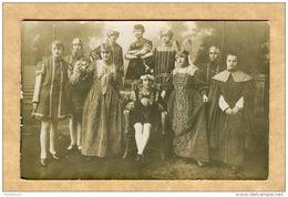 Théâtre - Gringoire (Th. De Banville) - Nord ( Lille Fourmies  Hambourdin) - Carte Photo - Noms Au Verso - Persone Identificate