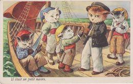 Animaux : Chat ,il étais  Un  Petit  Navire - Chats
