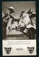 CALENDRIER DE LA J.A.C.F DE 1945 TB  FORMAT 15 X 24 CM 2 MOIS PAR PAGE - Calendars