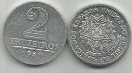 Brazil 2 Cruzeiros 1959. KM#571 - Brésil