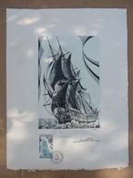 "T.A.A.F.  1988 . ""La Fortune"" Sur Gravure De La Poste .tirage 1500 Exemplaires N°813. - French Southern And Antarctic Territories (TAAF)"